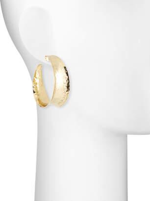 Nest Jewelry Hammered Brass Graduated Hoop Earrings