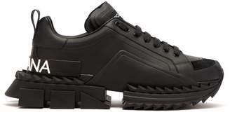 Dolce & Gabbana Super King Exaggerated Sole Leather Trainers - Mens - Black