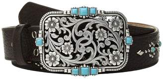 M&F Western Strap w/ Studs and Rectangular Buckle Belt Women's Belts