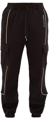 Ader Error X Ader Error X Cargo Cotton Jersey Track Pants - Mens - Black