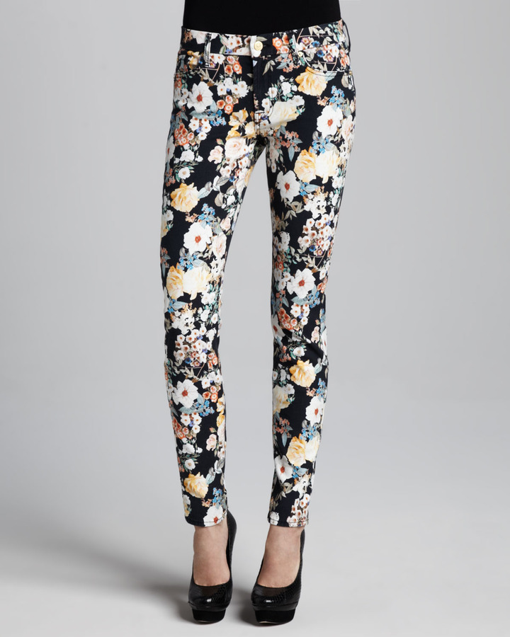 7 For All Mankind The Skinny Jeans, Midnight Floral