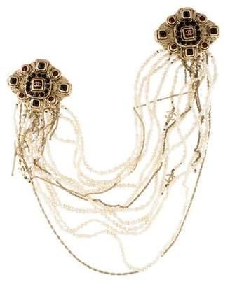 Chanel Pearl Multistrand Double Brooch