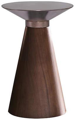 One Kings Lane Iris Side Table - Copper/Walnut