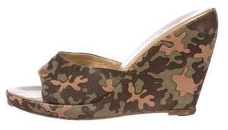 Chuckies New York Camouflage Slide Wedges
