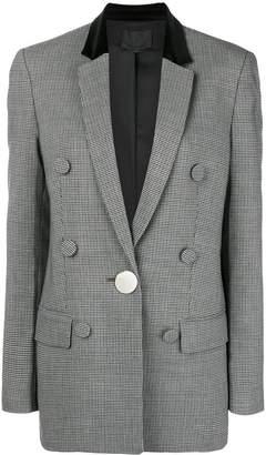 Alexander Wang plaid fitted blazer