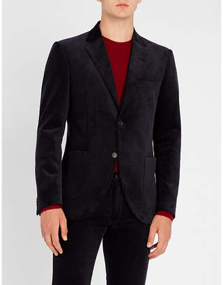 Tiger of Sweden Jamot tailored-fit cotton-velvet jacket