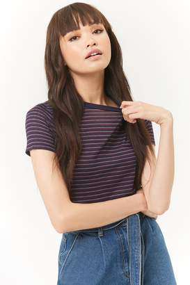 Forever 21 Striped Crew Neck Tee