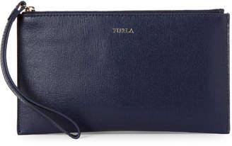 Furla Italia XL Leather Wristlet Clutch