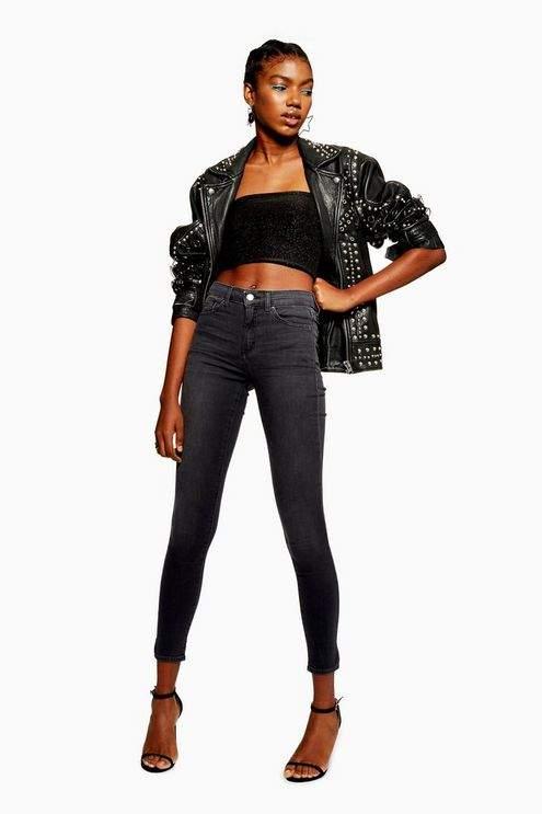 Dark Grey Leigh Jeans