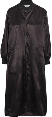 Comme des Garçons Comme des Garçons - Oversized Satin Jacket - Black $665 thestylecure.com