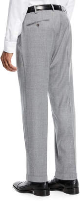 Incotex Benson Five-Pocket Standard-Fit Techno Wool Flannel Trousers
