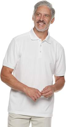 Haggar Men's Cool 18 PRO Regular-Fit Textured Performance Polo