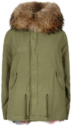 Mr & Mrs Italy Fur Lined Mini Army Parka