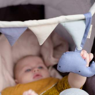 Little Baby Company Organic Whale Baby Pram Toy Rattle