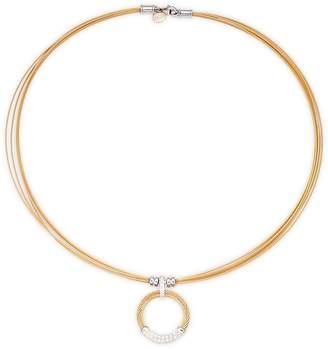Alor Women's 18K White Gold & Sterling Silver Diamond Circle Pendant Necklace