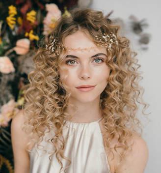 Carlisle Debbie Boho Flower Wedding Hairvine Coralie