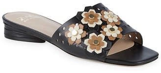 Zac Posen Nicole Floral Perforated Leather Slide