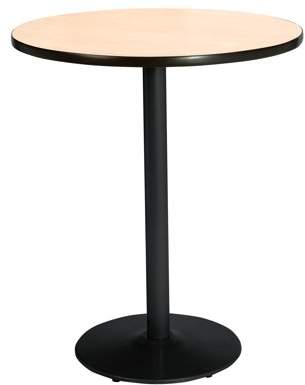 "KFI seating KFI Seating 30"" Round Pedestal Table with Multiple Colors Top, Round Black Base, Bistro Height"