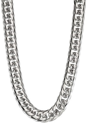 Men's Stainless Steel Curb Chain Necklace - 24 in.
