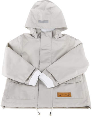 Jo-Jo Lea & Jojo Dove Grey Raincoat