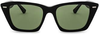 Acne Studios Ingridh Sunglasses in Black, Yellow & Green | FWRD