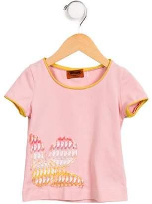 Missoni Kids Girls' Embroidered Scoop Neck T-Shirt