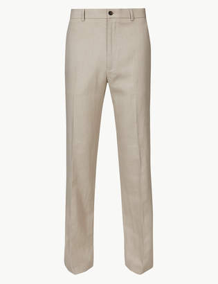 Marks and Spencer Big & Tall Textured Regular Fit Trousers