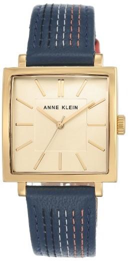 Anne KleinWomen's Anne Klein Square Leather Strap Watch, 42Mm X 34Mm