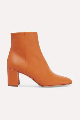 Mansur Gavriel Leather Ankle Boots - Orange