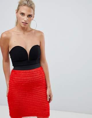 Rare London Sweetheart Fringe Midi Dress