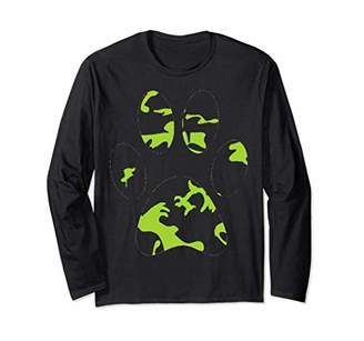 Camouflage Paw Print Long Sleeve Tee For Gift
