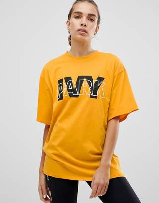 Ivy Park Logo Oversized T-Shirt In Yellow