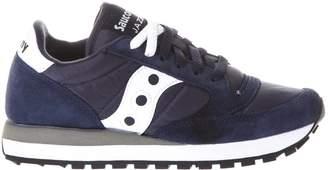 Saucony Jazz Navy Color Nylon & Suede Sneakers
