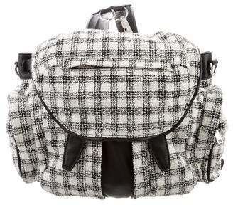 Alexander Wang Tweed Plaid Marti Backpack