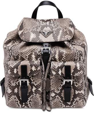 Prada top flap backpack