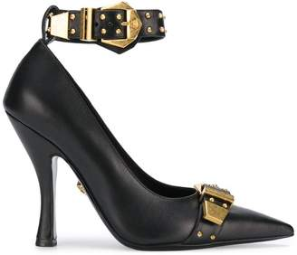 Versace pointed buckle pumps