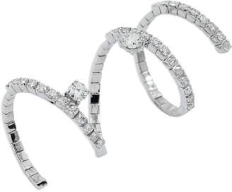 Fratelli Staurino 18k White Gold Diamond Snake Ring