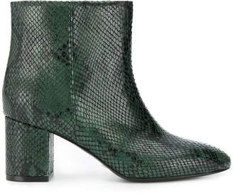 Twin-Set snake print ankle boots