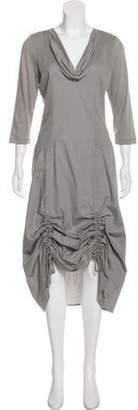 Neiman Marcus Cinched Midi Dress