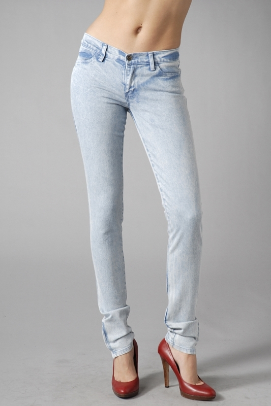 Ksubi Super Skinny Zip Jeans in Uzi Blue Vein