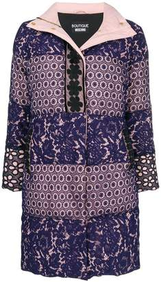 Moschino broderie anglaise padded coat