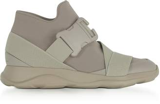 Christopher Kane Putty Gray Neoprene High Top Women's Sneakers