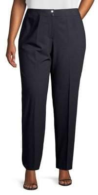 Calvin Klein Plus Buttoned Flat-Front Pants