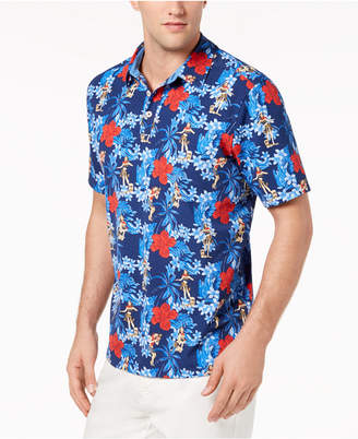Tommy Bahama Men's Hula Holidays IslandZone Upf 30 Moisture-Wicking Tropical-Print Stretch Polo