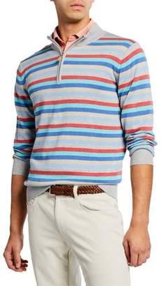 Peter Millar Men's Summer Stripe Zip Shirt