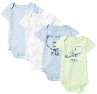 Joe Fresh Assorted Bodysuits - Pack of 4 (Baby Girls)