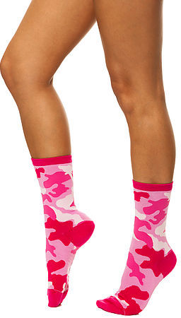K. Bell The Camouflage Socks in Pink