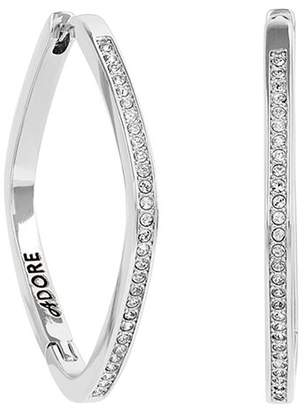 Adore Soft Square Rhinestone Hoop Earrings