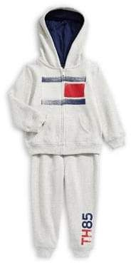 Tommy Hilfiger Baby Boy's Two-Piece Fleece Hoodie Pants Set