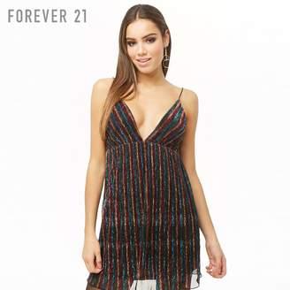 Forever 21 (フォーエバー 21) - Forever 21 レインボーストライプキャミソールワンピース